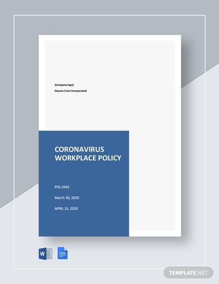 Coronavirus Workplace Policy Template