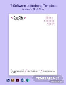 IT Software Letterhead Template