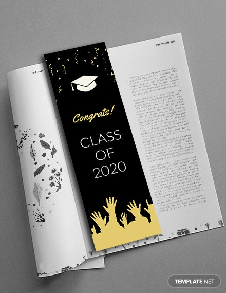 Free Graduation Bookmark Template