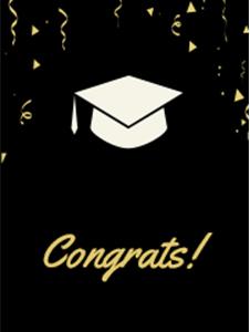 Graduation Bookmark Template