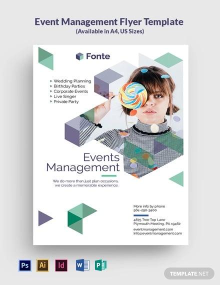 Event Management Flyer