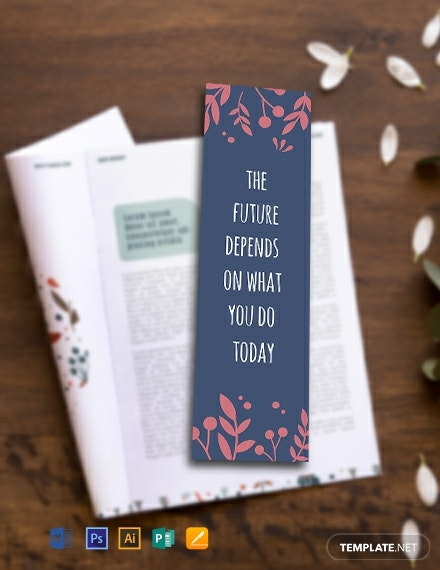 Free Motivational Bookmark Template