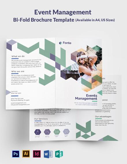 Event Management Bi-Fold Brochure Template