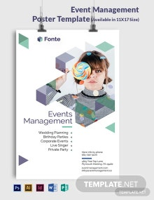 Event Management Poster Template