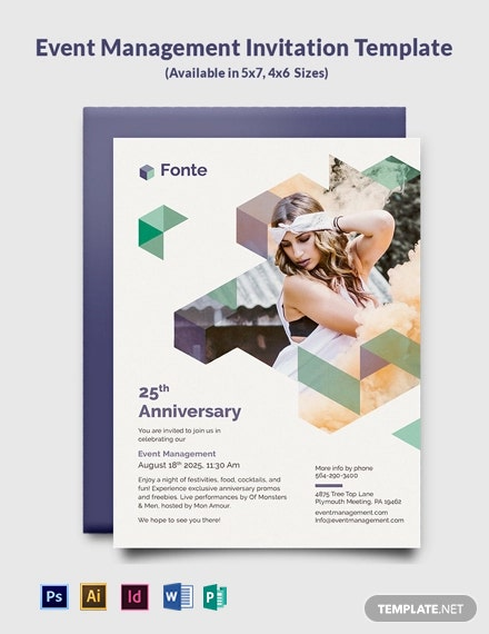 Event Management Invitation Template