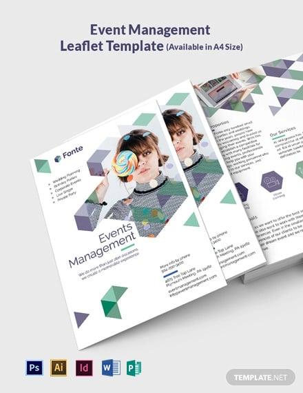 Event Management Leaflet Template