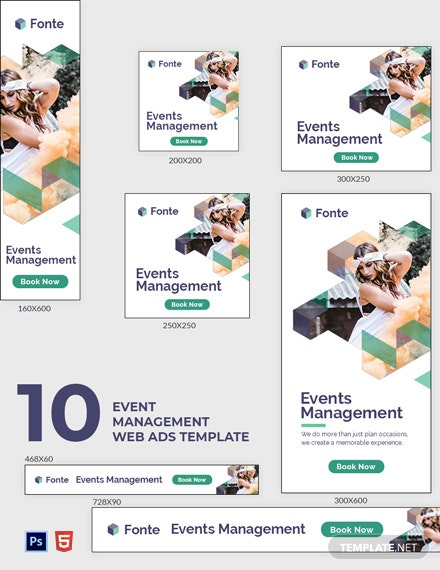 Event Management Web Ads Template