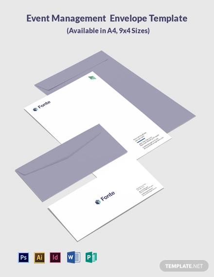 Event Management Envelope Template