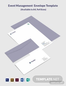 Event Management Envelope Template
