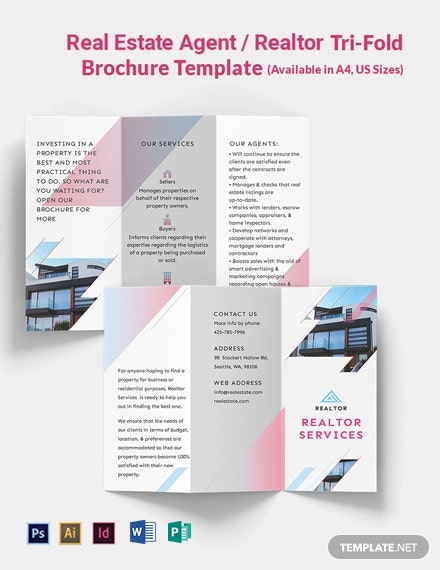 Real Estate Agent/Realtor Tri-Fold Brochure Template