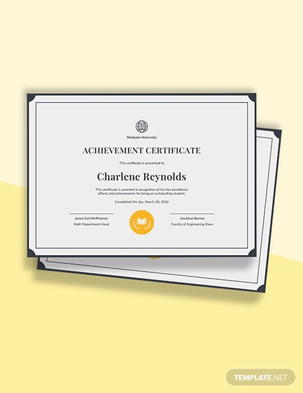 Free School Certificate Template