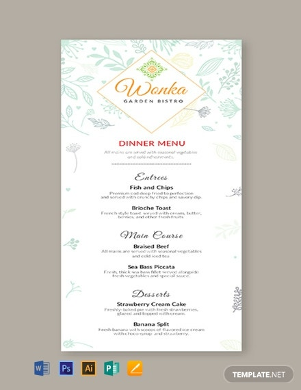 188 Free Menu Templates Download Ready Made Samples Template Net