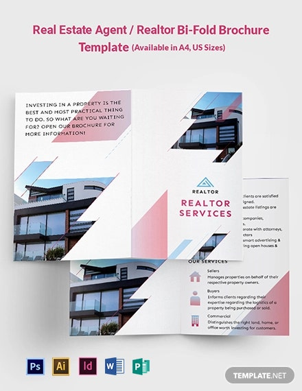 Real Estate Agent/Realtor Bi-Fold Brochure Template