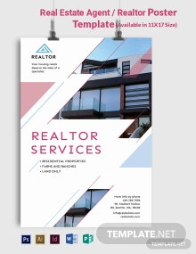 Real Estate Agent/Realtor Poster Template