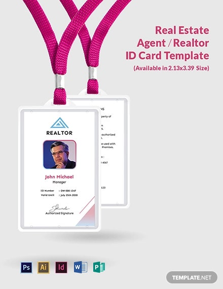 Real Estate Agent/Realtor ID Card Template