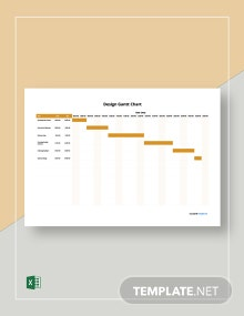 Free Simple Design Gantt Chart Template