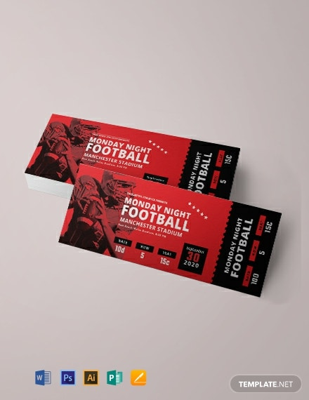Free Game Ticket Template