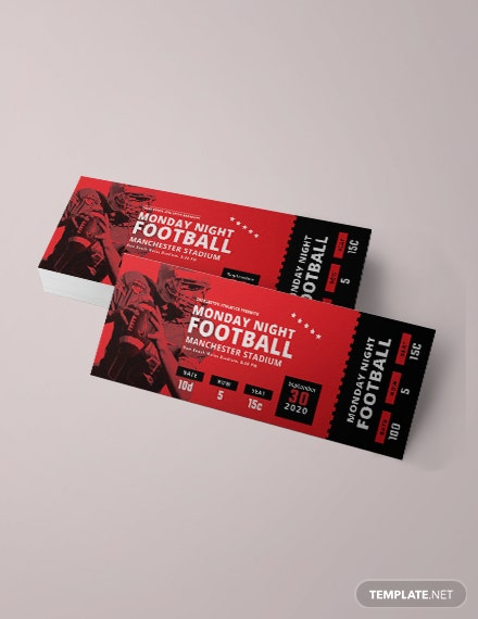 Game Ticket Template