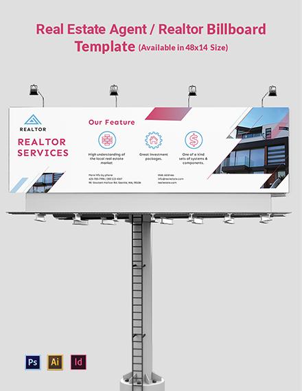 Real Estate AgentRealtor Billboard