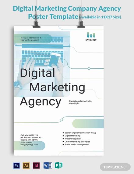 Digital Marketing Company Agency Poster Template