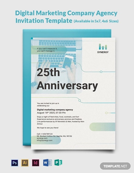 Digital Marketing Company Agency Invitation Template