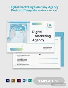 Digital Marketing Company Agency Postcard Template