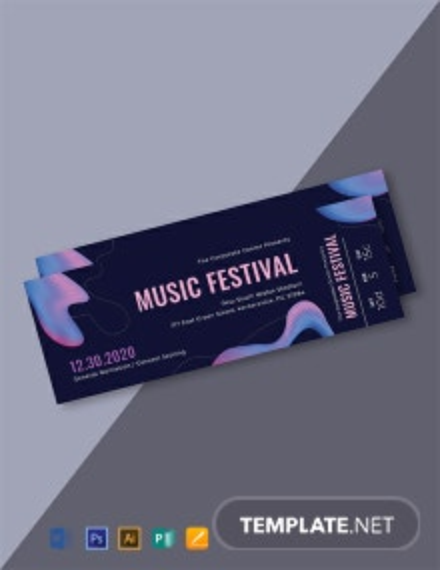 Free Modern Music Concert Ticket Template