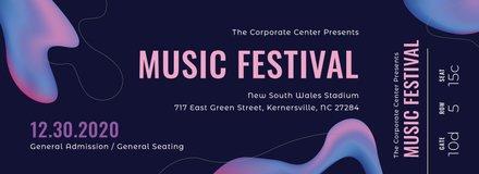 Modern Music Concert Ticket Template