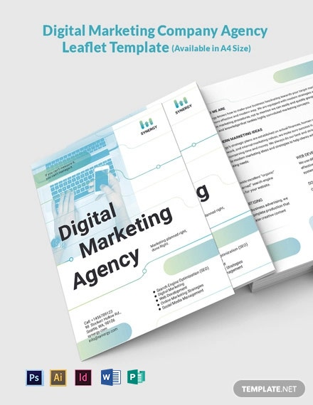 Digital Marketing Company Agency Leaflet Template