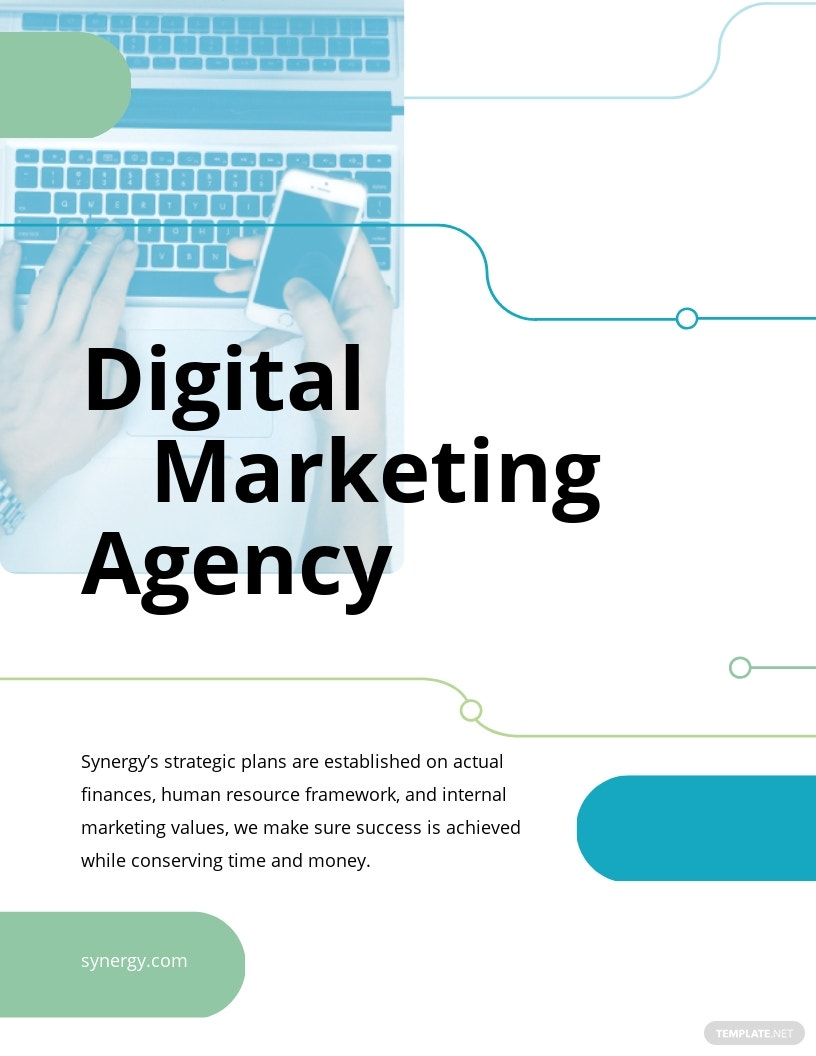 Digital Marketing Company Agency Pamphlet Template