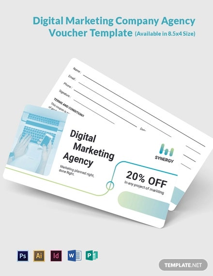 Digital Marketing Company Agency Voucher Template