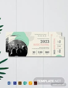 Free Printable Concert Ticket Template
