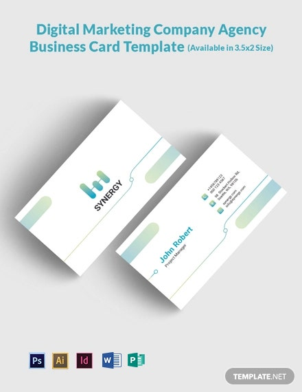 Digital Marketing Company Agency Business Card Template
