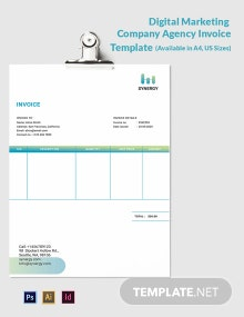 Digital Marketing Company Agency Invoice Template