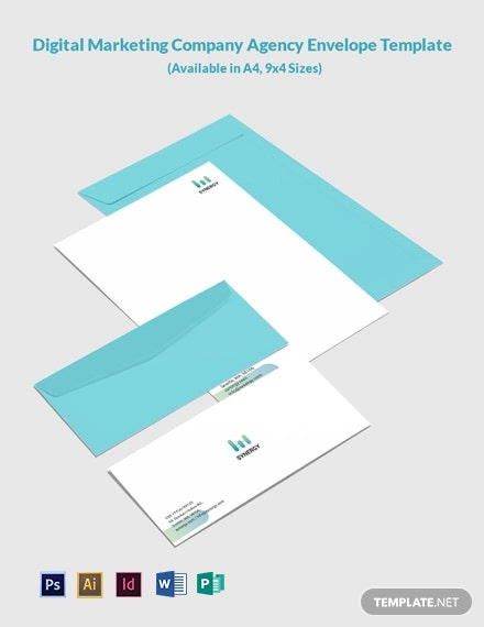 Digital Marketing Company Agency Envelope Template