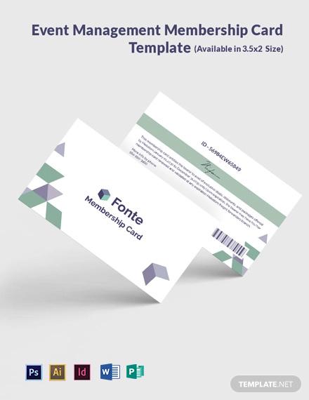 Free Digital Marketing Company Agency Membership Card Template