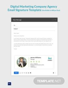 Digital Marketing Company Agency Email Signature Template