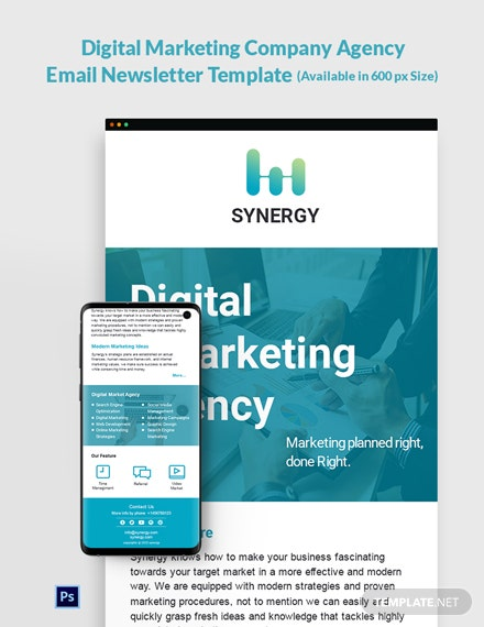 Digital Marketing Company Agency Email Newsletter Template