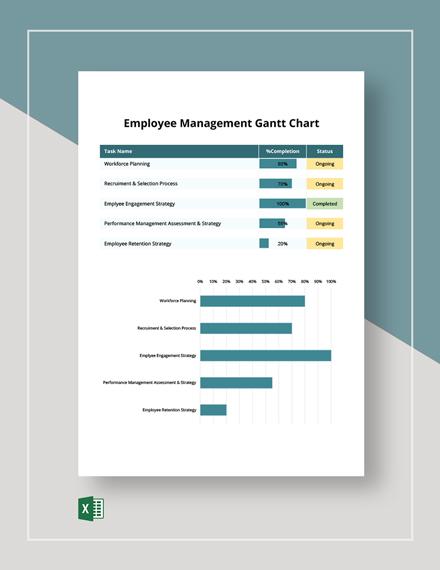 Employee Management Gantt Chart Template