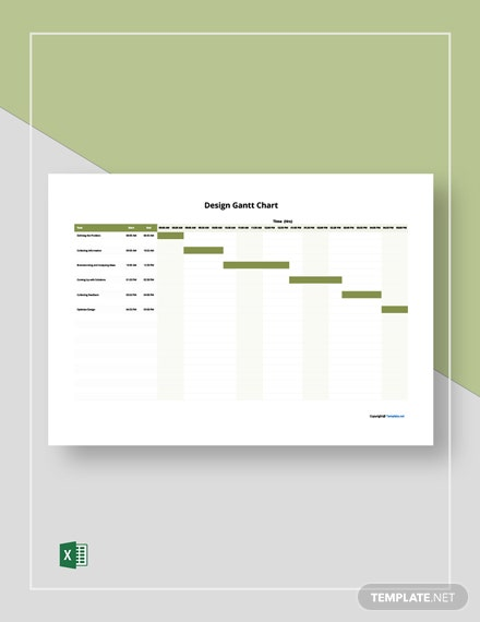 Free Sample Design Gantt Chart Template