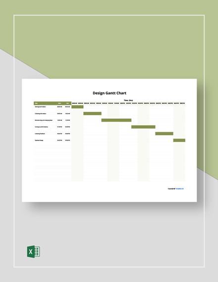 Free Sample Design Gantt Chart Template