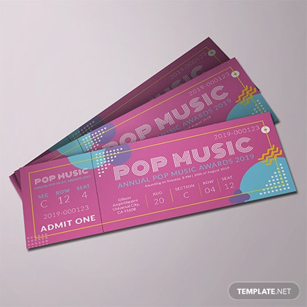 concert event ticket template download 57 tickets in psd illustrator. Black Bedroom Furniture Sets. Home Design Ideas