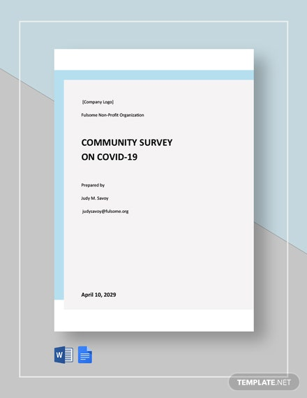 Community Survey on Covid19