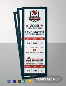 Free Sports Event Ticket Template