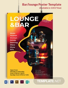 Bar/Lounge Poster Template