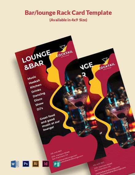BarLounge Rack Card Template