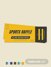 Free Sample Sports Raffle Ticket