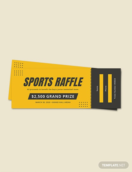 Sports Raffle Ticket
