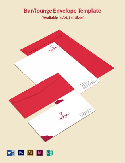 Bar/Lounge Envelope Template