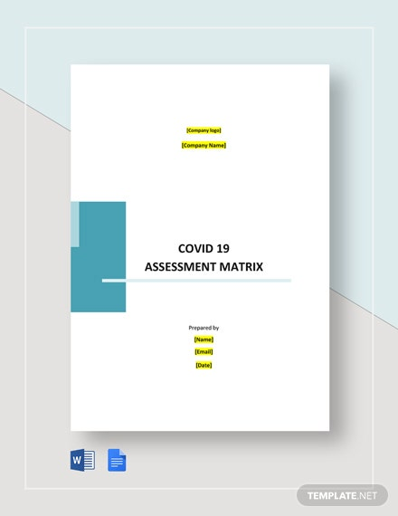 Coronavirus COVID- 19 Assessment Matrix Template